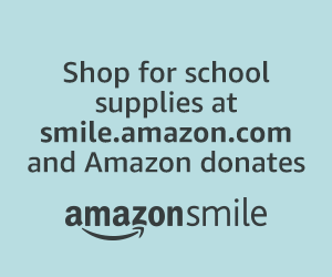 Amazon Smiles Banner: Click here to Shop and Benefit Your Charity
